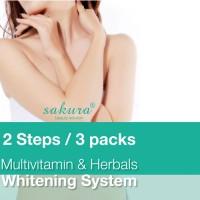KEM TẮM TRẮNG SAKURA WHITENING SYSTEM MITIVITAMIN & HERBALS SET 3
